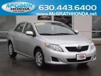 This 2009 Toyota Corolla LE is in very nice condition.