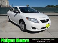 Options Included: N/A2009 Toyota Corolla, white with