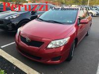 Clean CARFAX. Red 2009 Toyota Corolla LE FWD 4-Speed
