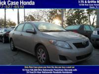 Options:  2009 Toyota Corolla|/|V4 1.8L Automatic|0
