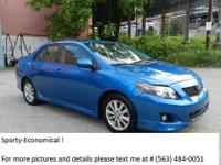 Pleased to offer 2009 TOYOTA COROLLA S,  73,856