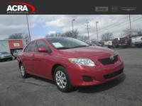 Used 2009 Toyota Corolla, stk # 17296A, key features