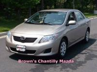 This vehicle has just arrived! 2009 Toyota Corolla LE