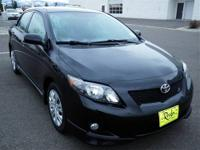 This Black Toyota CERTIFIED. 2009 Toyota Corolla is