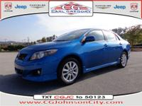 It's hard to resist this blue 2009 Toyota Corolla S!