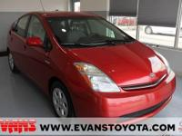 Clean CARFAX. RED 2009 Toyota Prius Standard FWD CVT