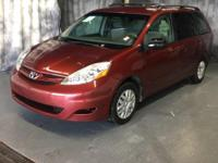 Red 2009 Toyota Sienna LE FWD 5-Speed Automatic with