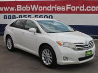 CARFAX One-Owner. White 2009 Toyota Venza FWD 6-Speed