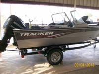 09 Tracker Pro Guide Deep V 16' aluminum boat with walk