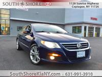 Blue 4D Sedan 2009 Volkswagen CC Luxury FWD 6-Speed