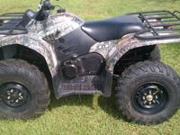 ***** 2009 Yamaha Grizzly 450 ***** Camo - 4wd / 2wd on