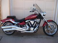 Red 2009 Yamaha Raider S w/ a fuel-injected, air-cooled