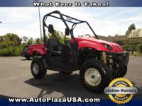 -Low Mileage- This Red 2009 Yamaha Rino is priced to
