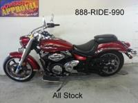 2009 Yamaha VStar 950 for sale in Candy Apple Red for