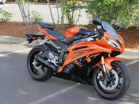 2009 Yamaha YZF R6Rare Team Yamaha Orange Pearl/ Black