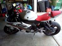 2009 Yamaha YZF R6 This sport bike has 5,300 miles and