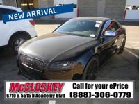 This 2009 Audi S5 comes with a Quattro All Wheel Drive,