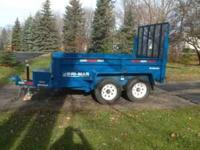 20009 Bri-Mar 10,000 gvw dump trailer. Stored winters,
