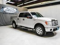 2009 FORD F150 SUPERCREW XLT 4X4: BRILLIANT SILVER