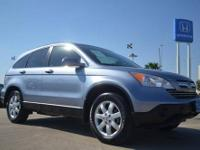 2009 Honda CRV EX-L pre owned blue suv for sale in