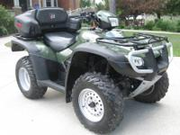 This is a like new ATV with ONLY 115 miles. Fully stock
