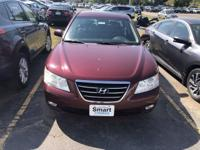 Dark Cherry Red 2009 Hyundai Sonata SE V6 FWD 5-Speed