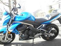2009 Kawasaki ER6N, Blue, only 49 miles. Completely