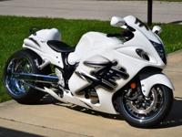 CUSTOM 2009 SUZUKI HAYABUSA.FRESHLY CUSTOM PAINTED WITH