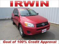 4WD! Red 2009 Toyota RAV4 4WD 4-Speed Automatic 2.5L