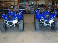 BOTH ATV'S ARE LIKE READY and brand-new TO RIDE! LOT