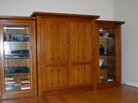 "THOMASVILLE OAK ENTERTAINMENT CENTER OVERALL 7'-8"" WIDE"