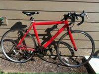 Red Vilano road bike only a year old. I originally
