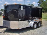 "LIKE NEW 2010 ""KING"" TANDEM AXLE 7X12 V=NOSE TRAILER"