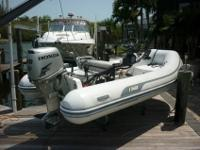 2010 AB inflatable dinghy with a 30HP Honda. Both are