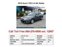 2010 Acura TSX 2.4 4dr Sedan Sedan 4 Doors Black FWD I4