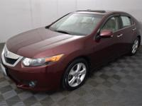 Clean CARFAX. Basque Red Pearl 2010 Acura TSX 2.4 FWD