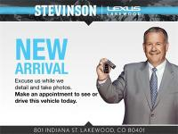 Clean CARFAX. Stevinson Lexus of Lakewood is offering