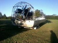 Custom built 32 ft 32 passenger airboat, 11ft