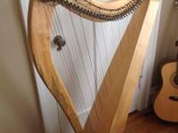 This harp was built in 2010 by Blevins Harps in
