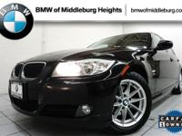 Clean Carfax, One-Owner Vehicle. This BMW 3 Series