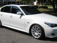 Here is a beautiful 2010 BMW 550i Alpine White with a 2