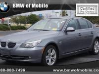 BMW of Mobile presents this 2010 BMW 5 SERIES 4DR SDN