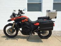 2010 BMW F800GS Lava Orange-For a faster response