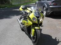 A 2010 BMW S1000RR with 5500 miles. Well maintained
