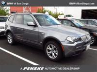 This 2010 BMW X3 4dr AWD 4dr 30i SUV features a 3.0L