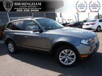 PRE-OWNED 2010 BMW X3 --GREY AND GREY-- CARFAX AND AUTO