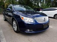 CARFAX One-Owner. Midnight Blue Metallic 2010 Buick