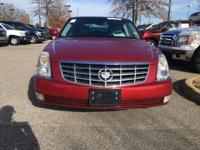 Clean CARFAX. Red 2010 Cadillac DTS FWD 4-Speed