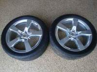This is a pair of rear polished wheels and nitto drag