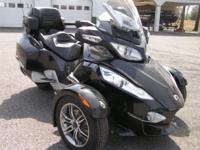 This is a very Nice 2010 CAN-AM Spyder RT-S  SM5 trike.